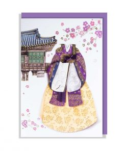 Greeting Card - Hanbok - Korean traditional dress